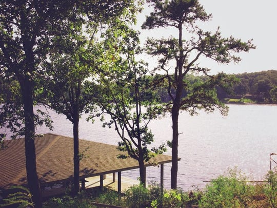 The client's lake house in Hot Springs, Ark., has gorgeous views of the lake.