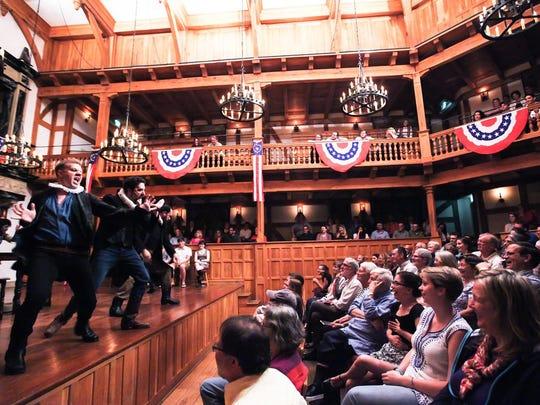 The American Shakespeare Center's Blackfriars Playhouse.