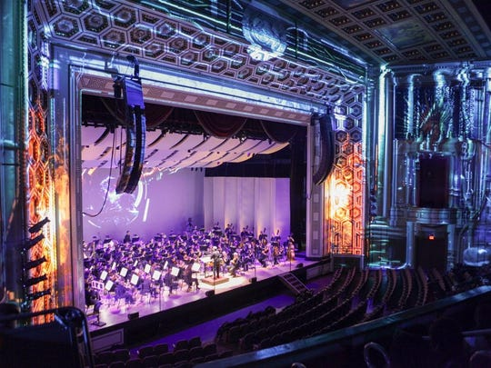 Dress rehearsal for the Cincinnati Symphony Orchestra's Lumenocity: Re-imagine at Taft Theatre Downtown recently.