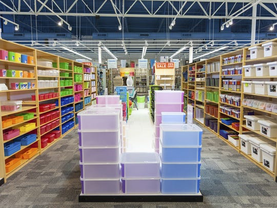 The Container Store offers more than 10,000 storage and organization products at the Christiana Fashion Center