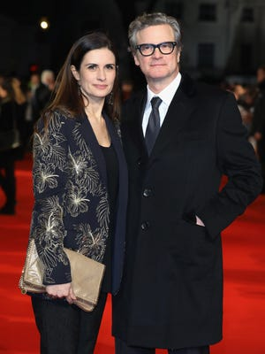 Actor Colin Firth and his wife Livia Firth attend 'The Mercy' premiere on Feb. 6, 2018 in London.