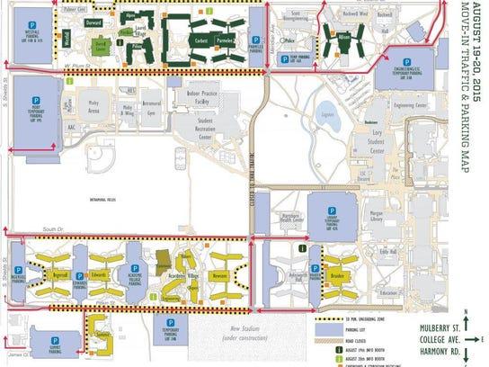 CSUs Oncampus Movein Is Thursday - Csu campus map