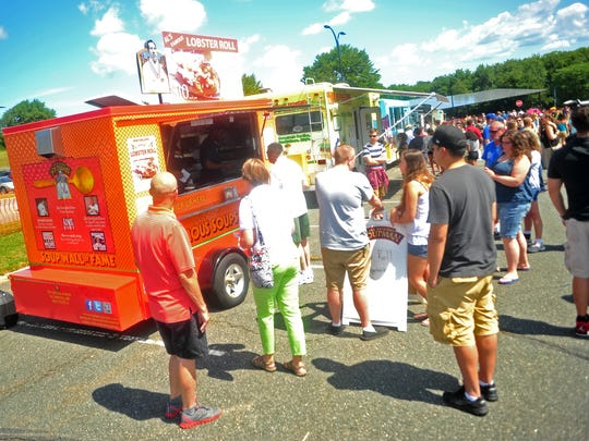 Some Asbury Park residents are complaining about a plan to bring food trucks, similar to these at the Just Jersey Food Truck Festival at the County College of Morris, to a green space near Ocean and Sixth avenues, fearing they'll bring noise and trash to a residential community.