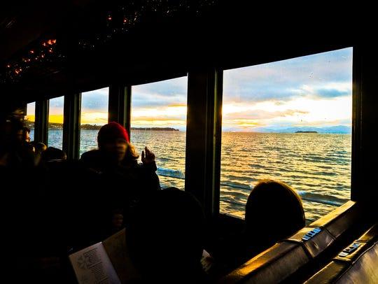 Beautiful views accompany the ride from Burlington's