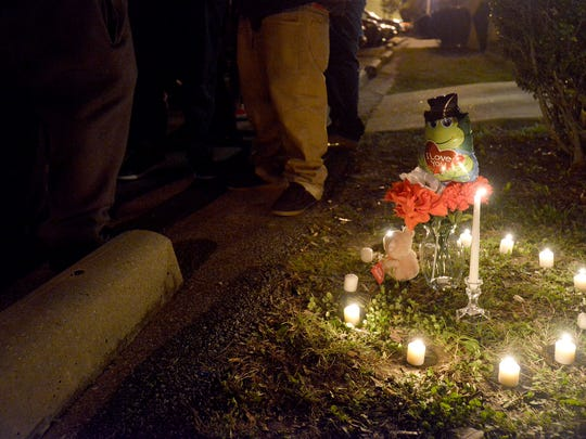 A memorial was set up for Mondarrius Miller on Wednesday evening at The Villages of Old Hickory. Miller died from gunshot wounds sustained during a shooting Tuesday evening.