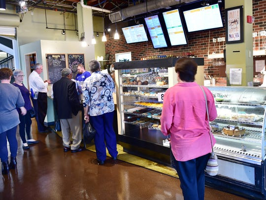 Business is brisk Broad Street Baking and Cafe in Banner Hall in Jackson.
