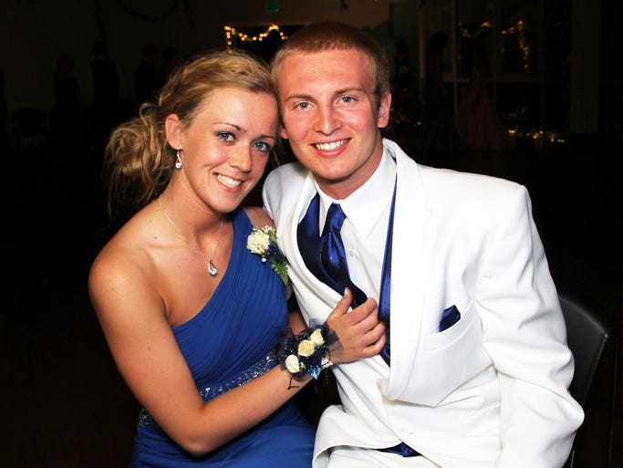 Senior Keely Bycroft and junior Austin Demers enjoy a fun night with classmates and dancing during the 2014 Bondurant-Farrar Prom at the Blank Park Zoo in Des Moines.
