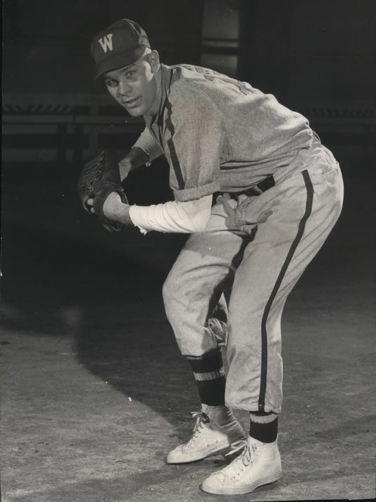 1952 Press Photo Harvey Kuenn Jr. player for Wisconsin baseball.