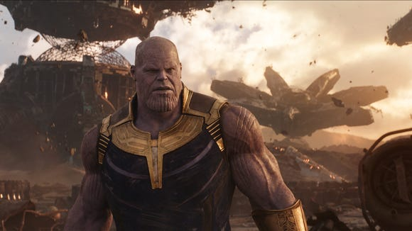 Thanos (Josh Brolin) has designs on eliminating half