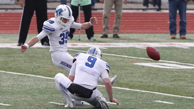 Newbury Park's Cole Tracy leaves Assumption College as a two-year NCAA Division II All-American kicker. He will kick for Louisiana State University in the fall.