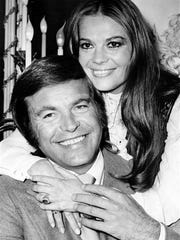 Robert Wagner and  Natalie Wood in 1972 in London.