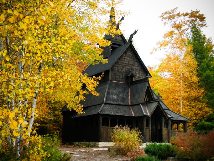 Fashioned after the Borgund Stave Church, the                                                          Trinity                                                          Evangelic