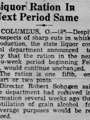 This notice ran in the Feb. 7, 1946 Lancaster Eagle-Gazette.