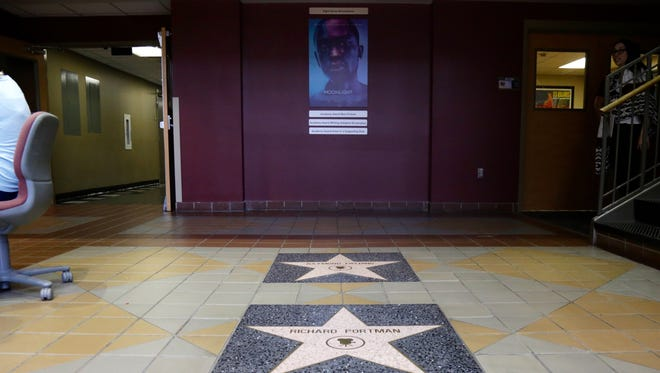 The foyer of FSU's College of Motion Picture Arts honors Oscar winners associated with the school.