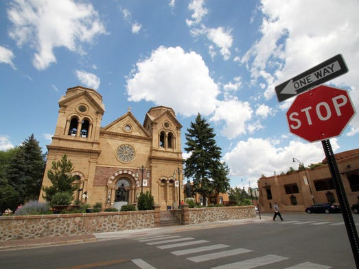 St. Francis Cathedral, one of many historic churches and missions in Santa Fe, N.M. on July 14, 2010. Aside from being one of the city's most photographed landmarks, Pope Benedict XVI in 2005 declared the cathedral the Southwest's cradle of Catholicism.