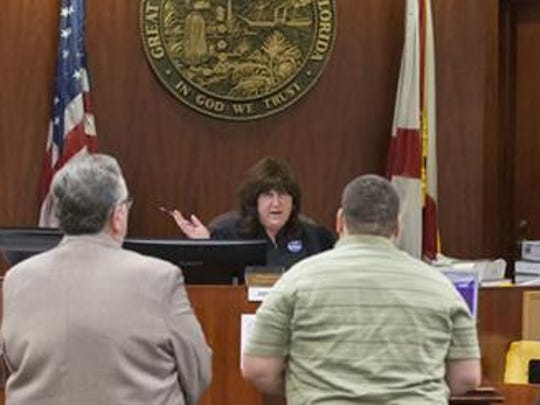 Cynthia L. Cox, 19th Circuit Judge instructs a defendant the provisions and responsibilities of the Mental Health Court in Indian River County.