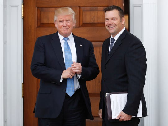 Kansas Secretary of State Kris Kobach met with President-elect
