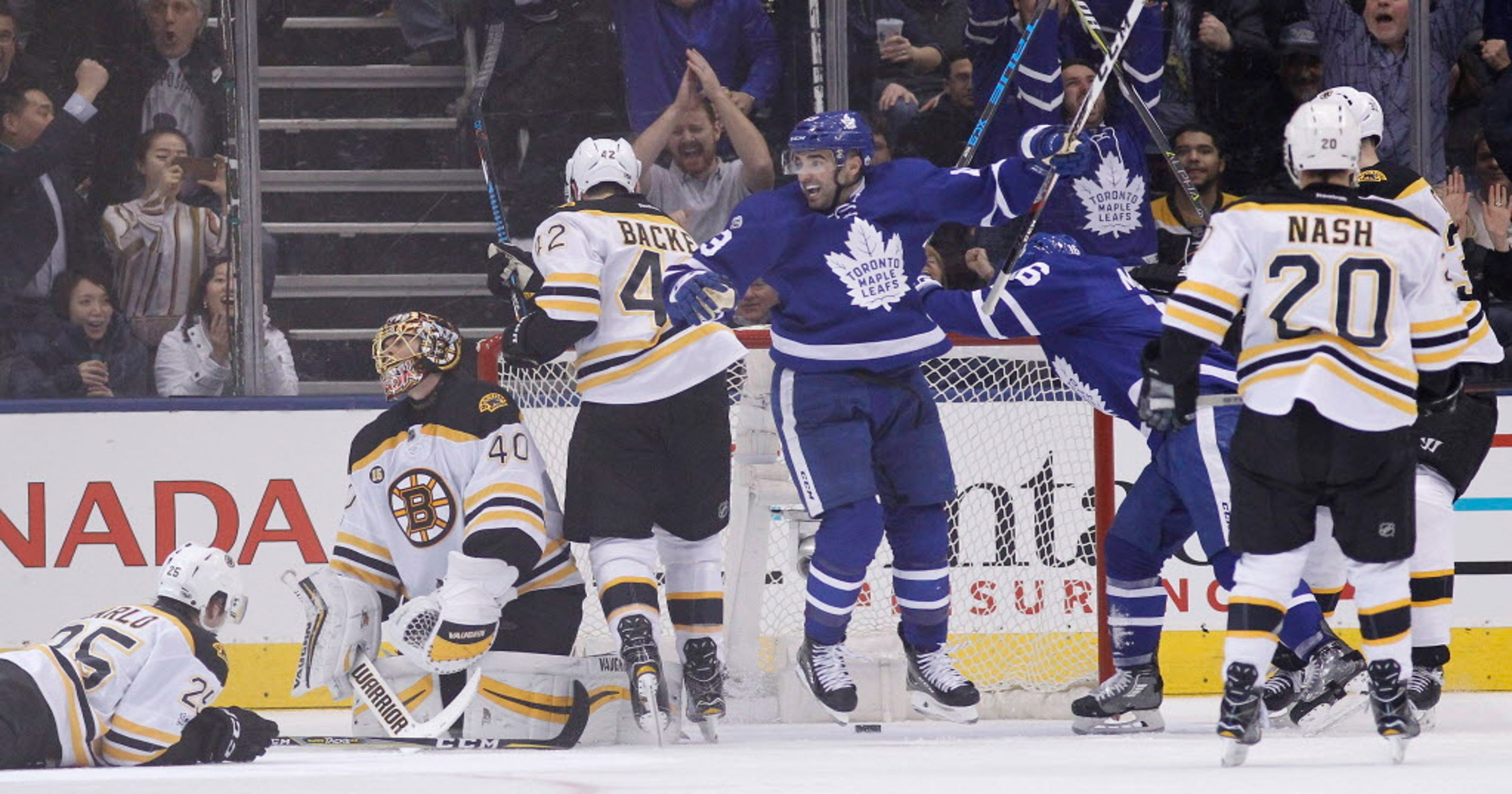 bcc125362 Maple Leafs complete rare season sweep of Bruins