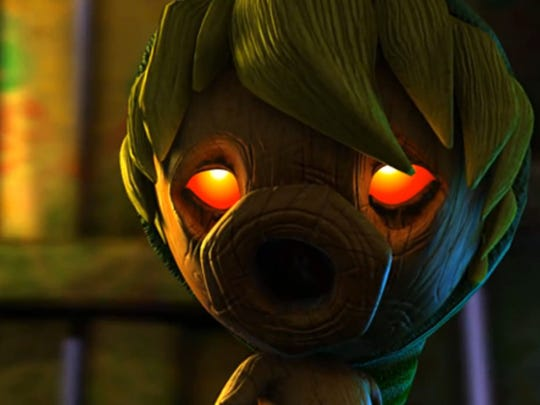 "The remake of ""The Legend of Zelda: Majora's Mask"" carries over the darker vibe of the original."