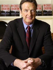 Author Michael Crichton at The Peninsula Hotel in New