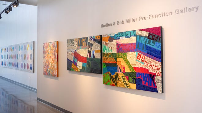A view of the Nadine and Bob Miller Pre-Function Gallery is seen Windgate Art & Design building at the University of Arkansas-Fort Smith ,