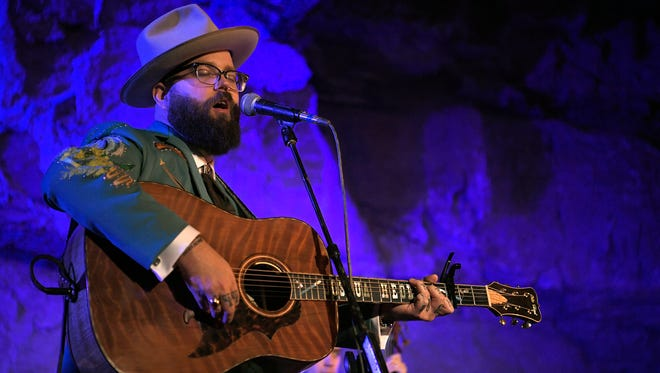 Joshua Hedley performs at Bluegrass Underground during a Tennessee Department of Tourist Development and Third Man Records event on Friday, Sept. 29, 2017.