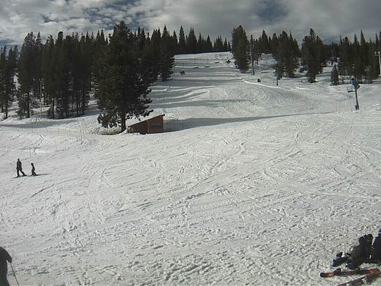 This is the scene at Mt. Shasta Ski Park last February,