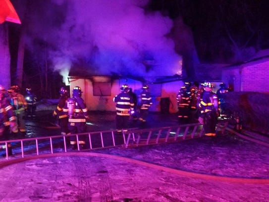 A fire gutted an apartment attached to a home on Bradhurst