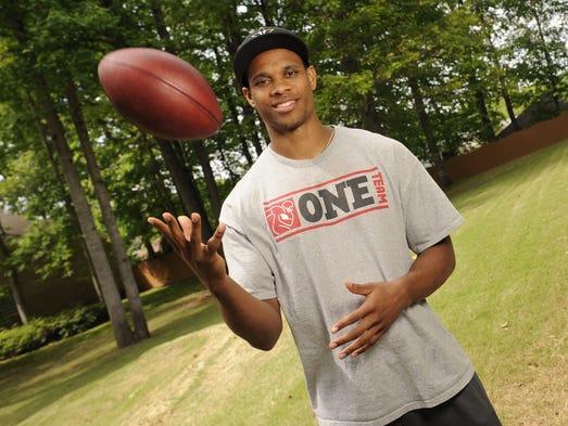 Former Vanderbilt wide receiver Jordan Matthews prepares for the NFL draft Friday, May 2, 2014 in Madison, AL.