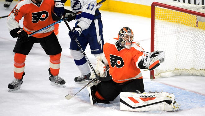 Rob Zepp made 21 saves in his second NHL start.