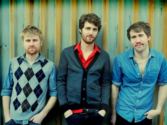 Ballard high grad. Ben Thornewill(center) returns to Louisville with his band Jukebox the Ghost is performing at Headliners Music Hall