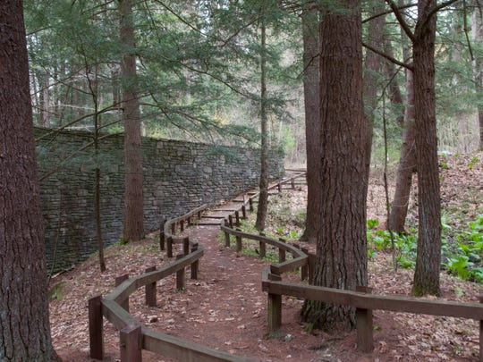 Fern Glen trail is located at the Cary Institute of