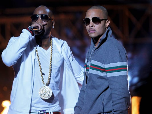 Rapper T.I. and Young Jeezy