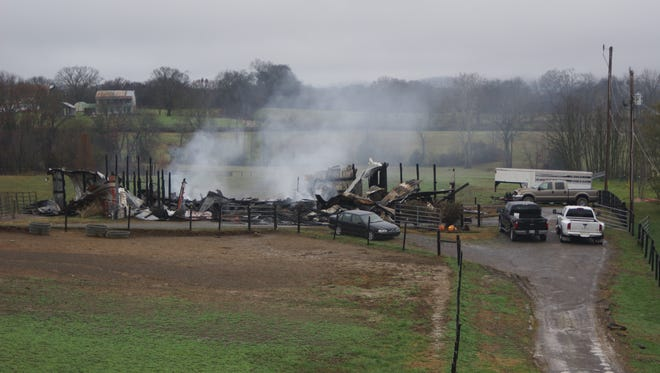 A fire at a Gallatin barn on Long Hollow Pike killed 11 horses Saturday.