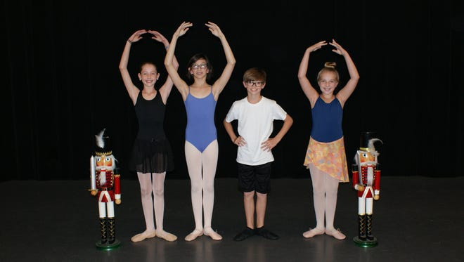 Five Cheatham County dancers will perform in the youth cast of the Nashville Ballet's Nashville's Nutcracker from Dec. 2 to Dec. 23. (L-R) Gracie Royalty, Mercy Warren, Addison Mackey, Camryn Magill