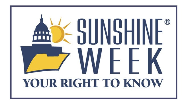 Sunshine Week is March 11-17 this year.