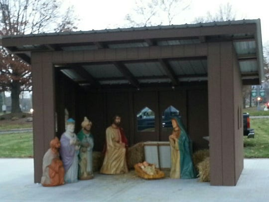 Baby Jesus was stolen from this Nativity scene, Franklin police say. A replacement is expected to cost $1,000 or more.