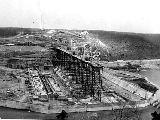 Work began on Bull Shoals Dam in 1947.