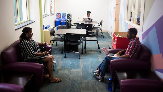 On the third floor of Brackett Hall, in the new space allotted for the Gantt Multicultural Center, students make use of their new student lounge, a space they didn't have room to afford in the previous building the Multicultural Center was housed in at Clemson University on Monday, August 29, 2016.