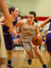 Northern Lebanon's Zoe Zerman drives the lane against