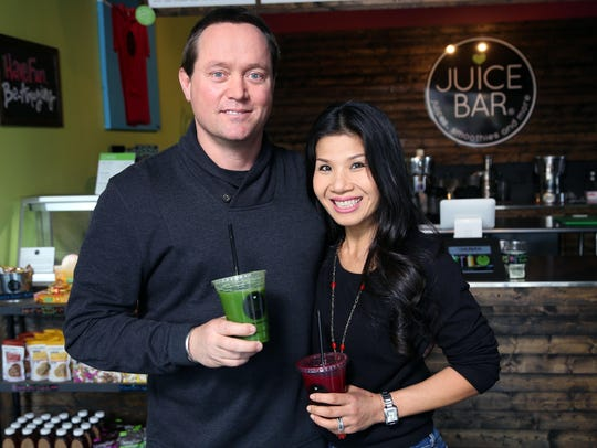 John and Vui Hunt of I Love Juice Bar and Vui's Kitchen