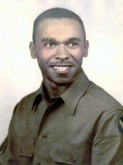 Photo of Leslie Edwards when he was a Tuskegee Airman in World War II.
