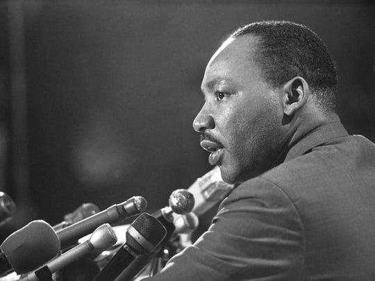 Dr. Martin Luther King Jr. is seen here in 1967. The annual MLK celebration in Appleton will take place Monday at Lawrence University's Memorial Chapel.