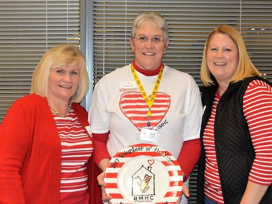 Volunteer Service - In 2017, volunteers served more than 16,000 hours supporting programs facilitated by Ronald McDonald House Charities of the Ohio Valley. Programs include Meals of Love, the Happy Wheels Cart, and the Ronald McDonald House. Each program supports critically ill children and their families.  The charity recently recognized 145 active volunteers at an annual banquet, including the Sallie Ann Hill Volunteer of the Year Award.  The 2017 recipient of the Sallie Ann Hill Volunteer of the Year Award is Mrs. Julie Luker. Julie began volunteering for the House in October 2010. Since that time, she has logged more than 1,000 volunteer hours for the charity.