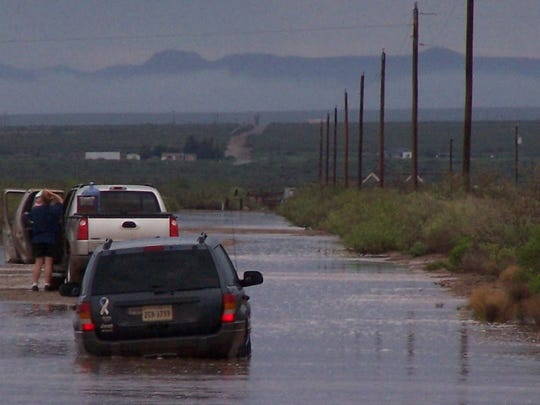 Flooding on Roberts Roads, which leads to Escondido Acres and Gardens subdivision near Dog Canyon Road, becomes dangerous during rain storms and has even become impassable in dry weather.