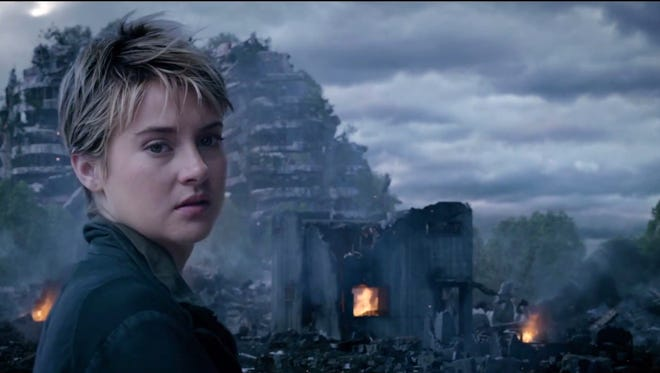 """Tris (Shailene Woodley) must keep a step ahead of the Erudites, who are out to kill her, in """"Insurgent."""""""