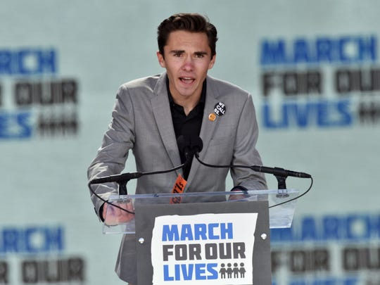 Marjory Stoneman Douglas High School student David Hogg speaks during the March for Our Lives Rally in Washington, D.C. on March 24.