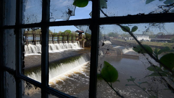 A view of the dam from the old Daniel Pratt Gin Company, which later became Continental Eagle, in Prattville.