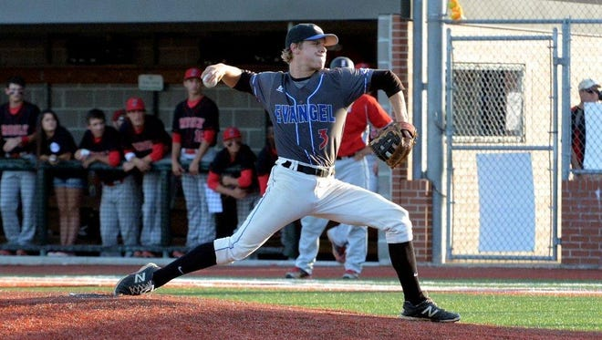 Evangel pitcher Blake Buckman notched the victory in the Eagles? semifinal game against Brusly.