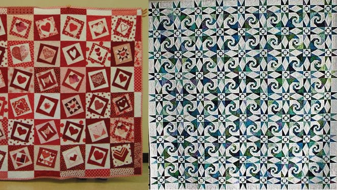 "The Crazy Quilters of Port St. Lucie are hosting its 12th Biennial Quilt Show called ""Quilting in Paradise"" on Feb. 1-3 at the Port St. Lucie Civic Center, at  U.S. 1 and Walden Road. The 2018 raffle quilt, on right, is called Paradise Waves. In addition, each day of the show a special red and white quilt will be auctioned to support  the American Heart Association."